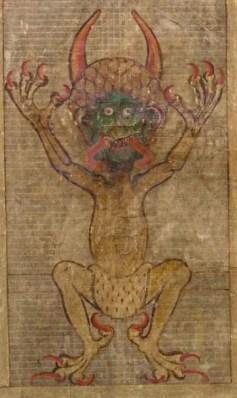 Illustration of the devil, page 577. Legend ha...