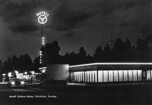 Gyllene Ratten at night, some time in the 1950s
