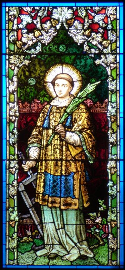 File:St. Stephen the Martyr (Omaha), chapel window 4, St Lawrence.jpg - Wikimedia Commons