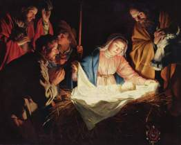 "Jesus was born in June, ""Adoration of the Shepherds"" by Gerard van Honthorst, 1622"