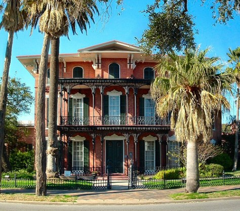 Ashton Villa, Galveston, Texas - where the proclamation was read from the balcony