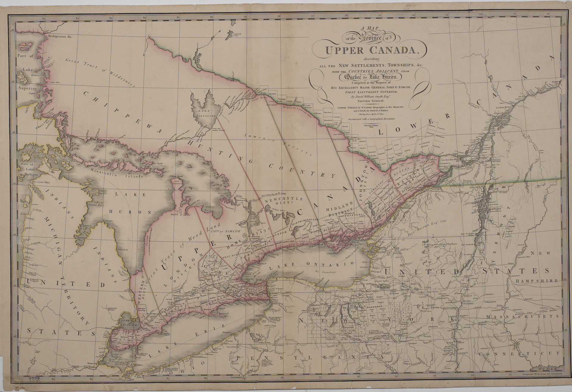 File A map of the province of Upper Canada describing all the     File A map of the province of Upper Canada describing all the settlements  and townships