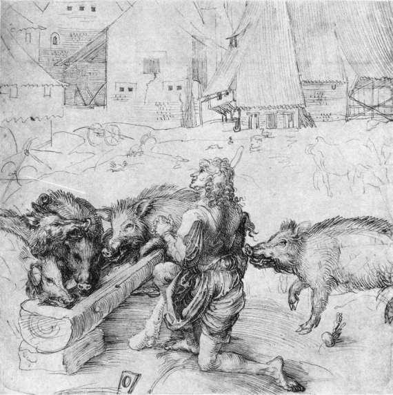 Albrecht Dürer - The Prodigal Son among the Swine