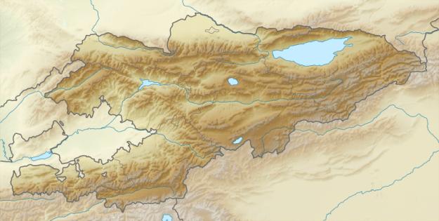 Kirgistan Karte