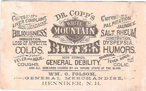 A cool, old advertisement for Dr. Copps Bitters, courtesy of Wikipedia. Public Domain.