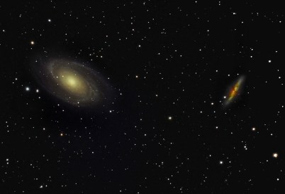 M81 (left) and M82 (right) in Ursa Major: Credti: Wikimedia Commons