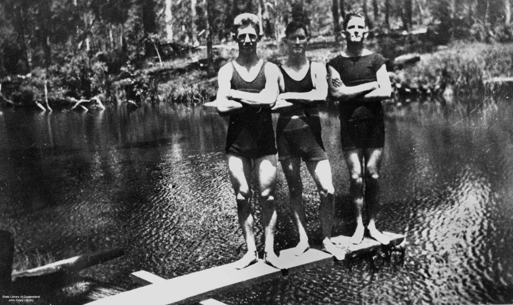 vintage swimming