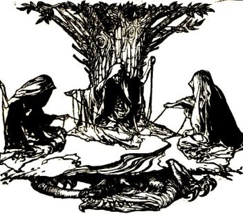 The Norns by Arthur Rackham