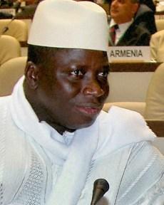 Gambia President Yahya Jammeh Portrait