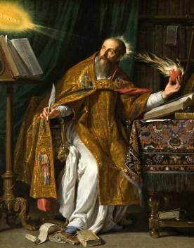 St. Augustine of Hippo, by Philippe de Champaigne. [Public domain], via Wikimedia Commons. Click to go the wikimedia page.