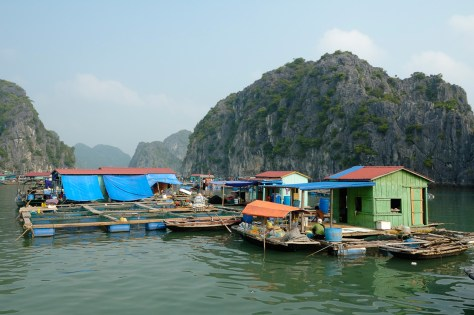 Floating fishing village. Fisherman's house, Ha Long Bay, Vietnam- Most surreal places to visit -Part 3
