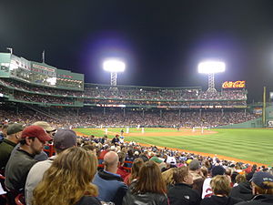 English: Fenway Park, Yankees vs Red Sox, Apri...