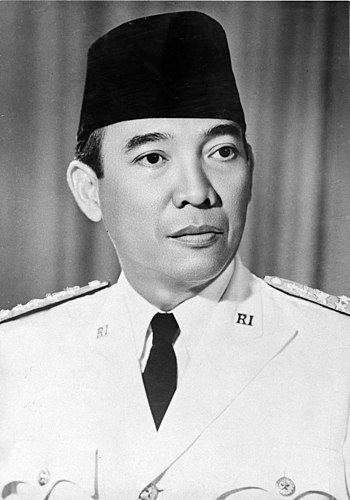 English: Official Portrait of President Sukarn...