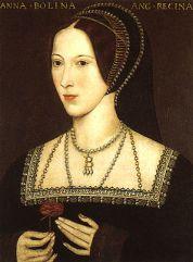 Portrait of Anne Boleyn, Henry's second queen;...