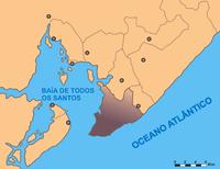 Mapa da Baía de Todos-os-Santos.