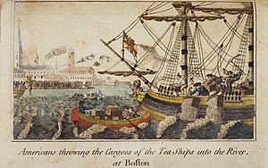 "Boston Tea Party (""Americans throwing Car..."