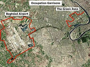 Green Zone   Wikipedia Aerial view and map of the Green Zone in Baghdad