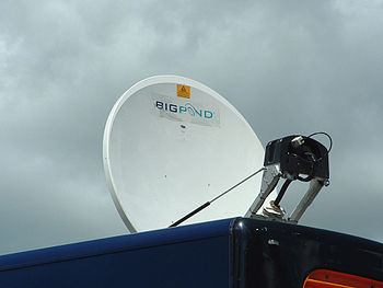 English: Bigpond Satellite internet dish.