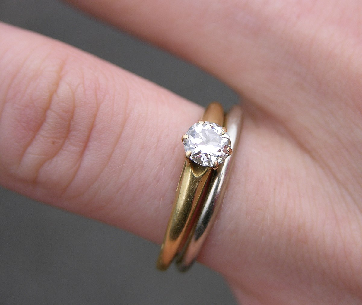 Engagement ring discount wedding rings