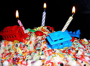 Birthday, Cake with candles
