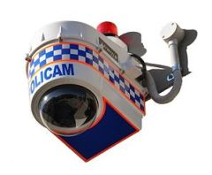 English: POLICAM surveillance camera and enclo...