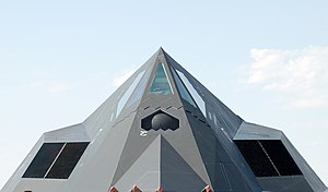 A detail of an F-117 Nighthawk Stealth Fighter...