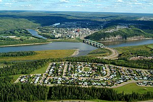 English: Aerial view of Fort McMurray. (From t...