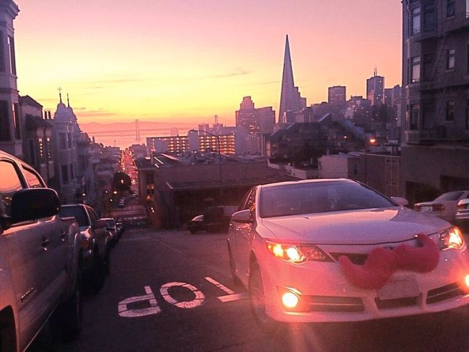 A beautiful sunset for Lyft riders