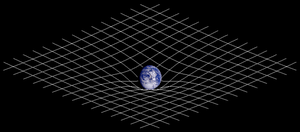 Illustration of spacetime curvature.