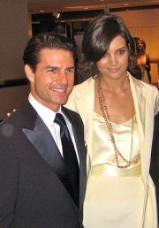 English: Cropped image of Tom Cruise and Katie...