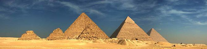 English: Giza Pyramids panoramic