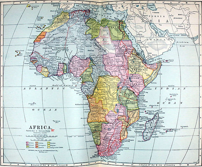 The New International Encyclop    dia Africa   Wikisource  the free     NIE 1905 Africa   political map jpg