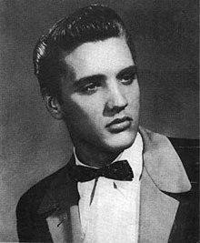 Elvis in a tuxedo