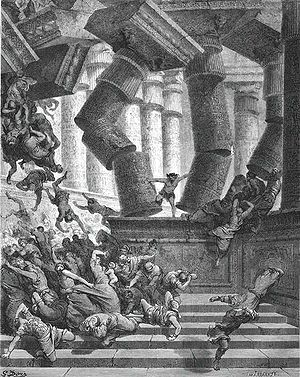 Samson in Dagon Temple