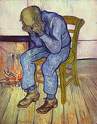 Vincent van Gogh's 1890 painting At Eternity's Gate