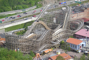 Balder rollercoaster at Liseberg amusement par...
