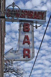 Deep Ellum - Conspiracy Bar sign 01