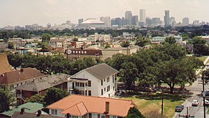 A view across Uptown New Orleans, with the Cen...