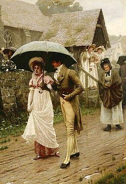 Edmund Blair Leighton - A Wet Sunday Morning