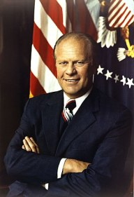 Gerald Ford, official Presidential photo. Fran...