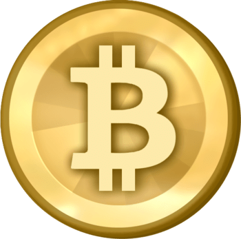 The bitcoin logo