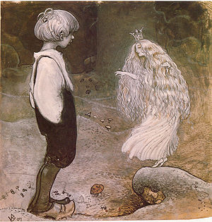 A fairy offering wishes, illustration by John ...