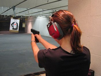 Indoor Shooting Range at Sarasota, Florida, US...