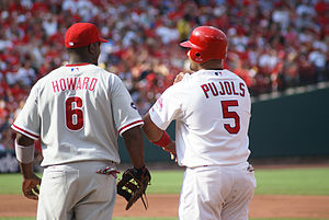 Ryan Howard (left) and Albert Pujols