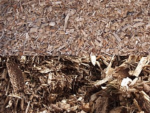 different grades of wood chips
