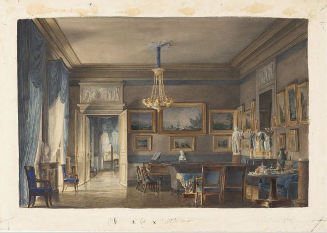 Hilaire Thierry - A Salon in the Empire Taste - Google Art Project