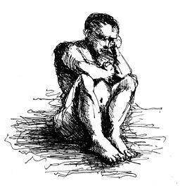 Deep Thinking by Wissam Shekhani, ink on paper