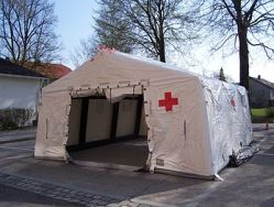English: Outside view of an inflatable medical...