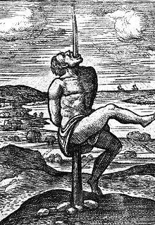 tribal girl impaled
