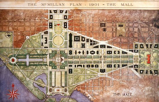 800px McMillan Plan A Brief History of Urbanism in North America: 1900 1909